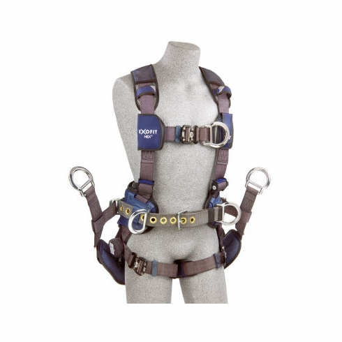 DBI SALA® - ExoFit NEX™ 1113190 Tower Climber Harness - Back, Front & Side D-Rings with Quick Connect Buckles