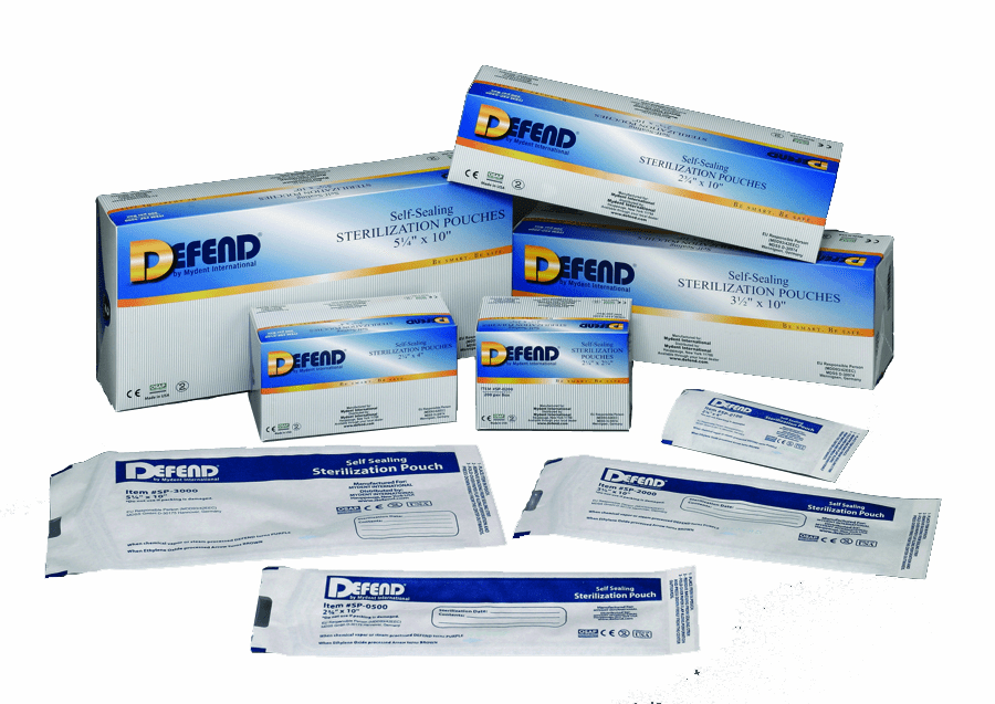 Defend, Sterilization Pouches - Now with Internal Indicator. SP-0200, SP-1000, SP-2000, SP-3000