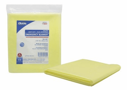 Dukal, 7303 54 X 80 Emergency Highway Blanket, Yellow