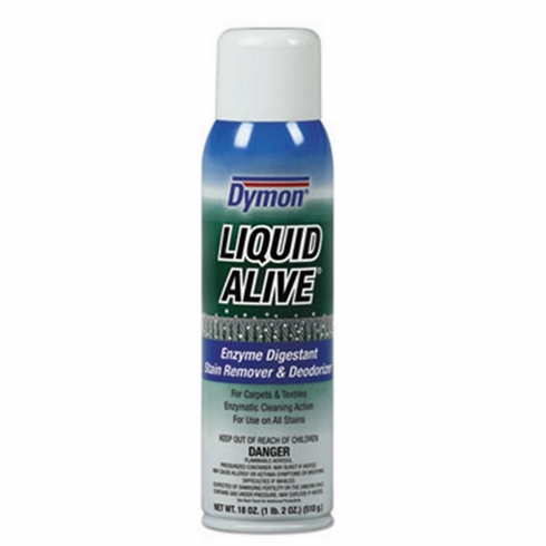 Dymon® - LIQUID ALIVE Carpet Cleaner/Deodorizer, 20oz, Aerosol