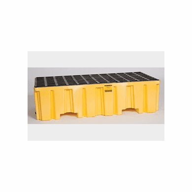 Eagle 1620 2 Drum Pallet - Yellow with Drain