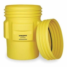 Eagle 1690 Overpack Poly Drum, 95 Gal. Yellow with Screw-on Lid
