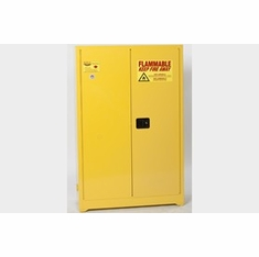 Eagle 4510 Flammable Liquid Safety Storage Cabinet, 45 Gal. Yellow, Two Door, Self-Close