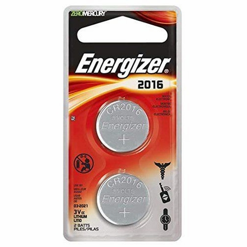 Energizer ECR2016 Lithium Coin Cell 2 Pack