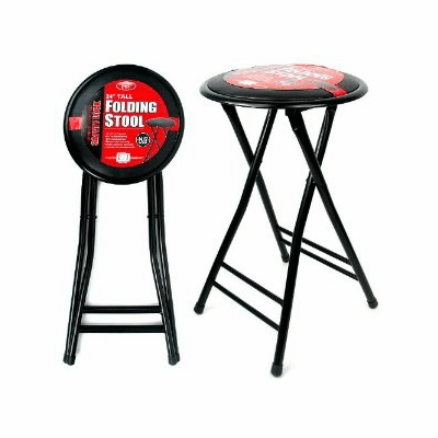 """ESS, 24"""" Cushioned Folding Stool with Safety Lock."""