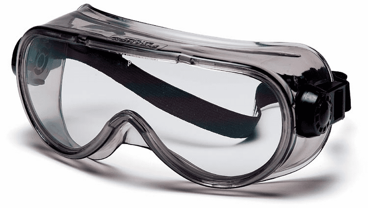 G304T Pyramex Goggles with Clear Anti-Fog - Exceeds CSA Z94.3 standards Lens Chem Splash Frame