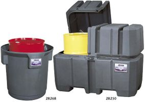 Justrite Gator® Single and Double Drum Collection Centers