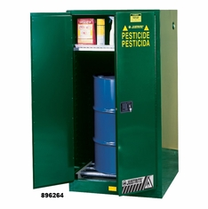 Green Vertical Drum Storage Cabinets for Pesticides