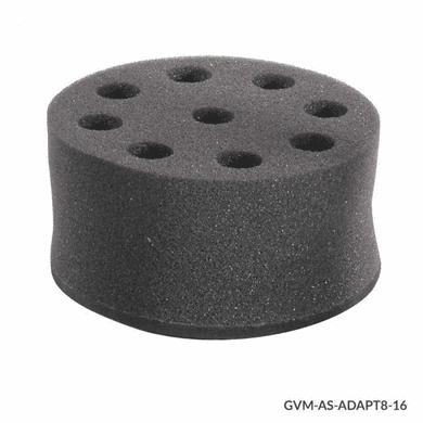 GS GVM-AS-ADAPT8-16 Tube Holder, Foam, for use w GVM Series 8 x 16mm Tubes, Must use w VM-AS-PLATE/GVM-AS-ROD