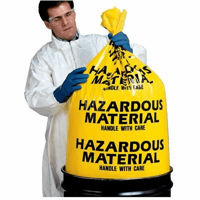 Haz Mat 17-913 Yellow Disposable 6 Mil Hazardous Material Bags