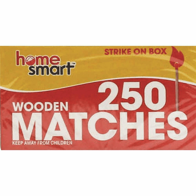 Home Smart 01722 Wooden Matches 2 Boxes 500 Matches