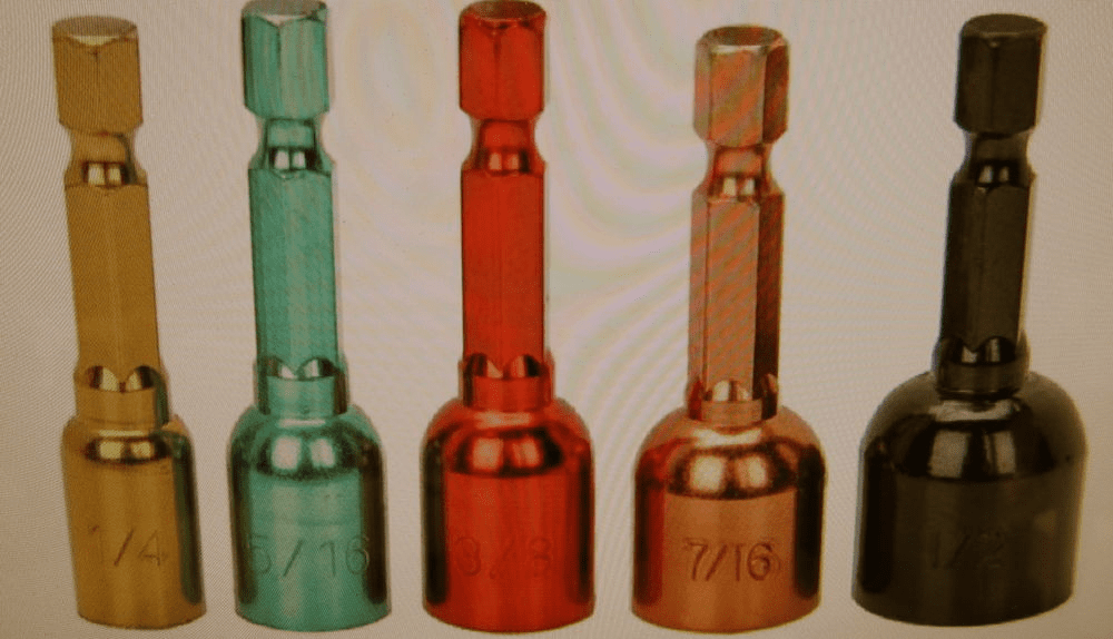 IIT 64480, 5 Piece Magnetic Color Coded Nutsetter Set