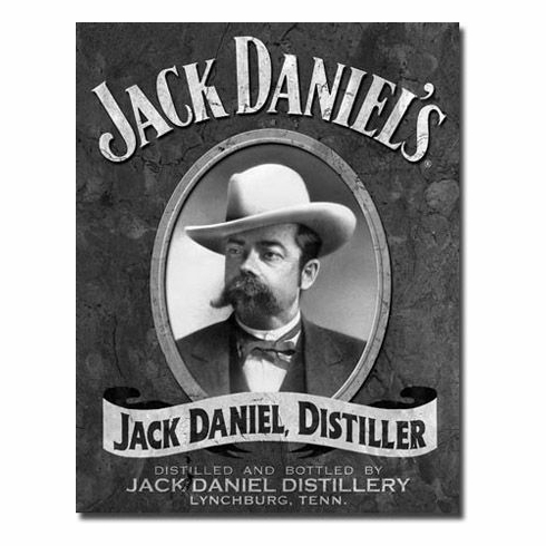 Jack Daniels T1622 Portrait Tin Sign