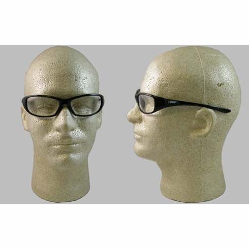 Jackson, 3013853 Hellraiser, Safety Glasses, Clear AF Lens, Black Frame