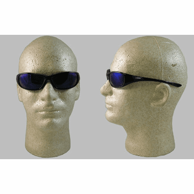 Jackson, 3013858 Hellraiser Safety Glasses, Blue Mirror Lens, Black Frame