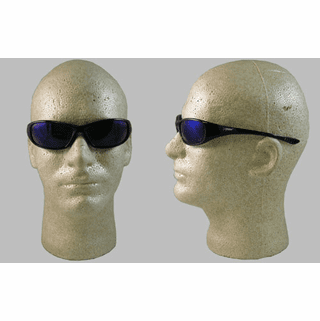 Jackson, Hellraiser Safety Glasses, Blue Mirror Lens, Black Frame