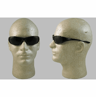 Jackson, Hellraiser, Safety Glasses, Smoke Mirror Lens,  Black Frame