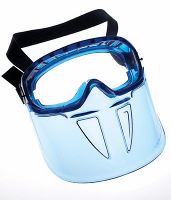 Jackson, V90 Shield Goggle, Blue Frame AF Clear Lens
