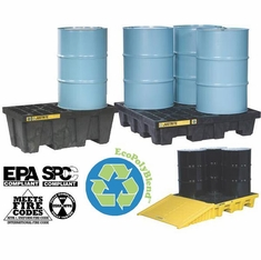 Justrite 28611 EcoPolyBlend Spill Control Pallets