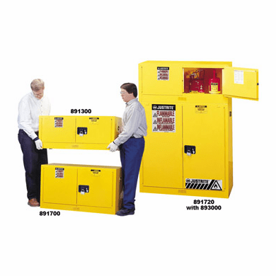 Justrite 891300 - Flammable Safety Cabinet - 12 Gallon - Piggyback