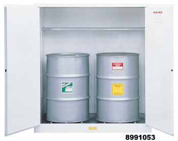 Justrite 8962053 White Drum Cabinets for Flammable Waste
