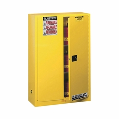 Justrite Safety Cabinet � 45-Gallon, Manual-Close, Sure-Grip EX