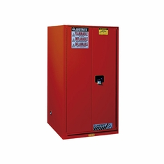 Justrite, Sure-Grip� EX Combustibles Safety Cabinet for paint and ink, Cap. 96 gal., 5 shelves, 2 s/c doors