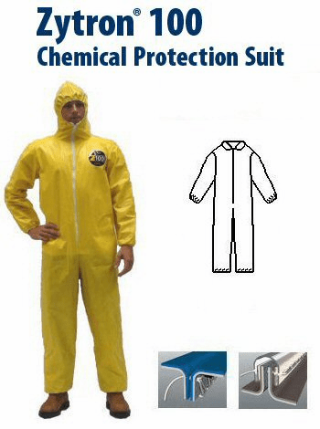 Kappler Zytron Z100 Coverall with Collar, Elastic Wrists and Ankles.