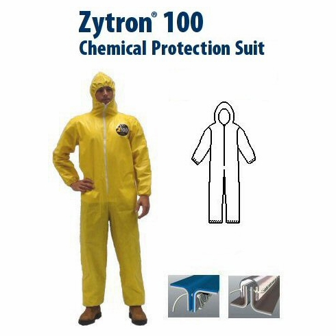 Kappler Zytron Z100 Coverall with Hood, Elastic Wrists and Ankles.