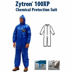 Kappler Zytron Z100XP Coverall with Collar and Elastic Wrists and Ankles.