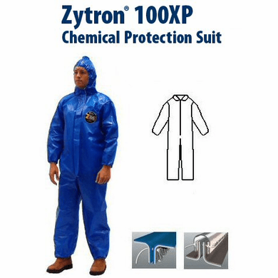 Kappler Zytron Z100XP Coverall with Collar & No Elastic. Serged Seam