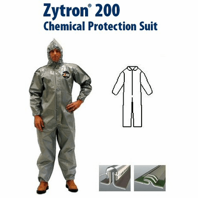 Kappler Zytron Z200 Coverall with Collar & No Elastic.