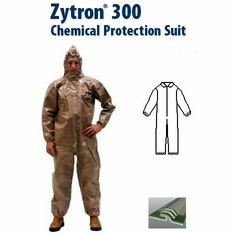 Kappler Zytron Z300 Coverall with Collar & Elastic Wrists and Ankles.