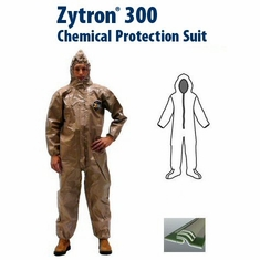 Kappler Zytron Z300 Coverall with Hood & Boots and Elastic Wrists.