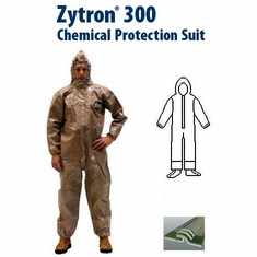 Kappler Zytron Z300 Coverall with Hood & Sock Boots with Boot Flaps and Elastic Wrists- CE Certified Type 3.