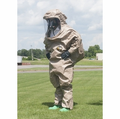 Kappler� Zytron� Z300 Totally Encapsulating Level B Rear Entry Suit with Expanded Back.