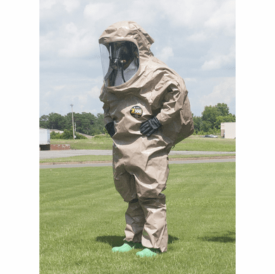 Kappler® Zytron® Z300 Totally Encapsulating Level B Rear Entry Suit with Expanded Back.