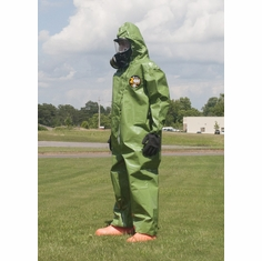 Kappler Zytron Z400 Coverall with Elastic Hood, Wrists and Ankles.