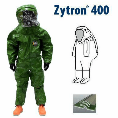 Kappler® Zytron® Z400 Totally Encapsulating Level B Rear Entry Suit with Expanded Back.