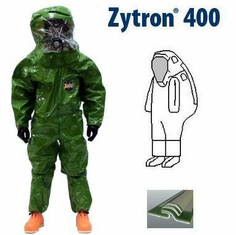 Kappler� Zytron� Z400 Totally Encapsulating Level B Rear Entry Suit with Expanded Back.
