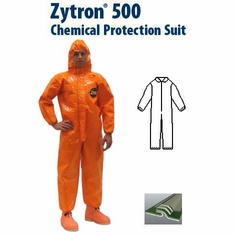 Kappler Zytron? Z500 Coverall with Collar & Elastic Wrists and Ankles.