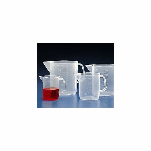 Kartell®, 601160 Polypropylene Beaker With Handle, Pitcher, PP, Molded Graduations, 5000mL