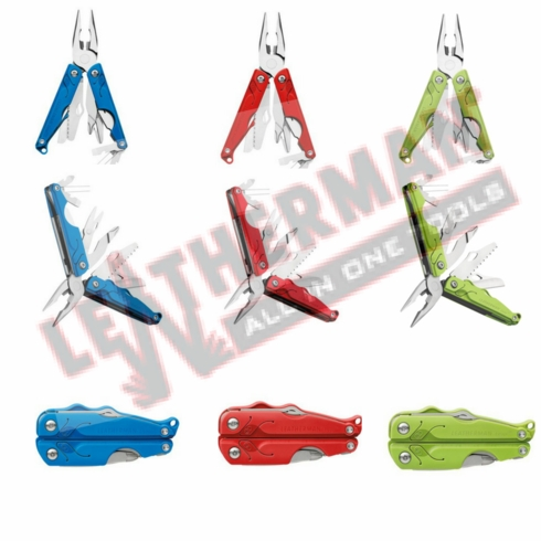 """Leatherman Leap For Younger Users, 3.30"""" Closed , 12 Tools, Red Handles"""