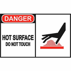 """LSS 20791 """"CAUTION HOT SURFACE DO NOT TOUCH"""" 11 X 7 Rigid Plastic Sign"""