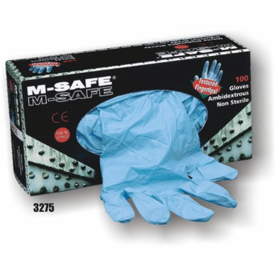 M-Safe, 3275 Nitrile, Disposable, 5-6 Mil, Textured Fingertips, Premium Industrial Grade