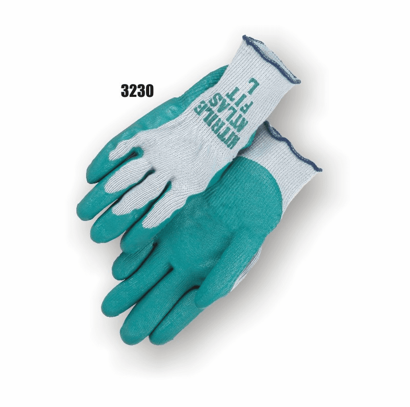 MAJESTIC 3230 Seamless Knit Liner with Green Nitrile Palm Gloves