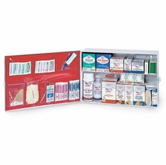 Medique, 756M1-2 2 Shelf Industrial First Aid Cabinet Filled