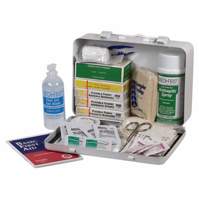 "Medique 818M1 Standard Vehicle First Aid Kit 9 1/2"" X 6 1/4"" X 2 3/8"""