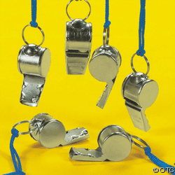 Metal Whistle with pea, ESS0003