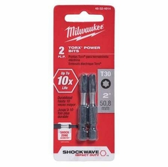 Milwaukee 48-32-4914 2 Pack T30 Power Bit